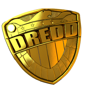 Judge Dredd game Badge